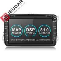 Isudar Deux Din Voiture lecteur multimédia Android 8.1 auto-radio Pour Skoda/Siège/Volkswagen/VW/Passat b7/ POLO/GOLF 5 6 DVD GPS 4 Noyaux