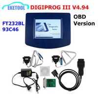DIGIPROG III V4.94 versión OBD odómetro programador Digiprog 3 kilometraje correcto Digiprog3 OBD FT232BL & digidigiprog OBD ST01 ST04