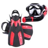 Vidrio Templado profesional Snorkels buceo máscara de buceo gafas Gafas buceo Aletas de natación aletas set equipo de buceo