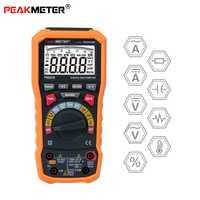 PEAKMETER PM8236 Auto de rango manual del multímetro Digital con TRMS 1000 V temperatura de la capacitancia de frecuencia de prueba