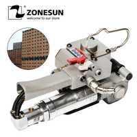 ZONESUN nuevo neumática de plástico Pet PP flejes XQD-25 para caja de cartón máquina flejadora para 12-25mm (tensión> = 3000N)