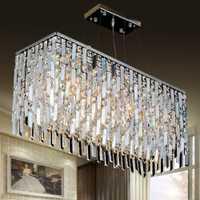 Moderno K9 iluminación araña de Cristal LED Cristal colgante luz dormitorio iluminación comedor Luz