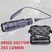 Nueva llegada elemento de noche-evolución táctico Airsoft RISS linterna de Vector 265 lumen arma de caza pistola de caza