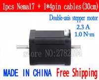 Envío gratis 1 unid Doble eje 17 (42HB4) 2.3A 4-lead Nema 17 Stepper Motor 42 motor CNC Láser y la impresora 3D
