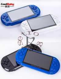 5 pulgadas gran pantalla LCD Coolbaby X9 nostálgico 8g mano consola de juegos Retro vídeo MP3 reproductor para GBA/ juegos de NES