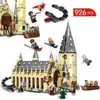 926 piezas Harri Potter serie Compatible Legoing arquitectura Hogwarts gran salón bloques de construcción de ladrillo juguetes para niño