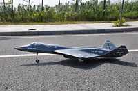 Escala Skyfligft YF23 viuda Jet Avión RC doble FED de Metal se retrae KIT negro modelo RC avión