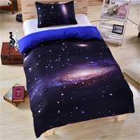 Conjunto de ropa de cama CAMMITEVER Galaxy con estampado de estrella de sol funda de edredón conjunto de cama de diseño único precioso espacio exterior es Tamaño