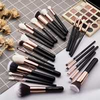 Jessup belleza 25 piezas pinceles de maquillaje conjunto maquiagem profesional completa base de sombra de ojos de resaltador cepillos T155
