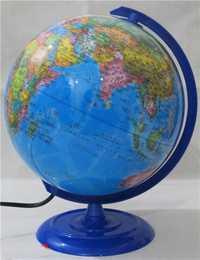Plastique Dia 20cm Hd bleu océan en Version anglaise et chinoise lumière LED Globe terrestre Articles d'ameublement étudiant