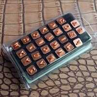 DIY Johnleather Craft Senior letras estándar 26 alfabeto sello herramientas Set 7mm * 7mm con poste de Metal chapado en níquel