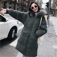 2018 nueva moda Faux Fur con capucha chaqueta de invierno mujeres chaquetas de algodón acolchado grueso abrigo caliente abrigo mujeres elegante Parka Mujer