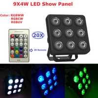 LED mostrar Panel plano Par 9X4 W RGBW 4IN1 de plástico LED Par puede Disco lámpara etapa Luces discoteca rayo láser Luz de proyector