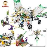 31186 puzzle diy bloques de construcción bloques de ninja juguetes educativos para los niños con 6 muñeca 1110 piezas de juguetes. de buena calidad