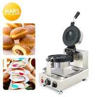 Nueva máquina de prensa comercial de helados de Donut, postres italianos, Gelato Panini, 220V/110V, máquina de prensado de hamburguesas