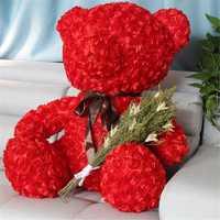 Fancytrader Red Rose oso de peluche de juguete de buena calidad gran oso de peluche muñeca 70 cm 28 pulgadas para niños adultos regalos