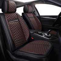 Alta calidad PU cuero asiento de coche cubre fit kia Rio 3 4 Sorento 2017 2018 2005 2007 2011 2013 2016 2017 soul spectra car styling