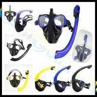 2 Unidades alien adultos equipo de buceo de silicona Snorkel seca completa + máscara + PP caja gafas de natación gafas tubo de respiración