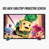 Proyector de pantalla de 100 pulgadas 16:9 Mesa portátil plegable PVC pantalla 3D gafas teatro casero COOLUX YG300 XGIMI JMGO AUN