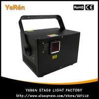 DJ luz láser de animación de RGB de luz láser 1350 MW automática de sonido DMX ILDA