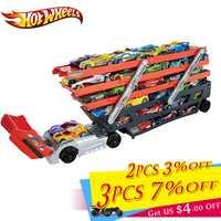 Hotwheels de juguete camión de caja de almacenamiento coche contenedor escalable estacionamiento piso caliente ruedas de camión de transporte juguetes de Navidad día regalo CKC09