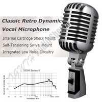 De Metal 55SH profesional dinámico micrófono Vocal clásico Vintage estilo micrófono Shure 55SH serie micrófono