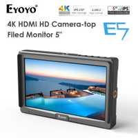 Eyoyo E5 5 pouces 1920x1080 Ultra lumineux 2200nit sur le champ de la caméra DSLR moniteur Full HD 4 K HDMI entrée sortie haute luminosité