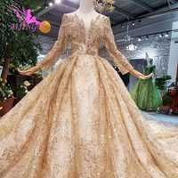 AIJINGYU boda musulmán vestidos de boda Top Queen nupcial Weeding Angel Vintage vestido de boda de la Federación Rusa