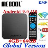 MECOOL KM9 Android 9 TV Box Amlogic S905X2 DDR4 4 GB RAM 64 GB ROM USB 3,0 4 K HDR 2,4G/5G Wifi BT4.1 Set top caja de TV inteligente