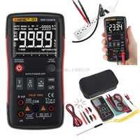 Q1 multímetro Digital de verdadero botón Auto 9999 cuenta analógico Bar gráfico AC/tensión DC amperímetro actual Ohm transistor Tester XJ36