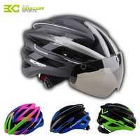 Basecamp 2018 casco de ciclismo integral Molde carretera montaña MTB casco de bicicleta con gafas a prueba de viento hombres mujeres accesorios de bicicleta