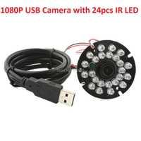 1080 p MJPEG 30fps/60fps/120fps CMOS OV2710 2.8mm visión nocturna ir cut infrarrojos LED cctv seguridad USB módulo de cámara