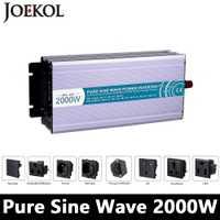 2000 W de Onda Sinusoidal Pura Inversor, DC 12 V/24 V/48 V A AC 110 V/220 V, fuera de la Red Inversor de Potencia Con El Viento Solar Del Panel de Batería