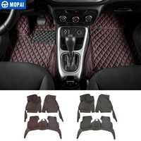 MOPAI de coche de cuero accesorios del Interior del piso alfombras almohadillas de pie Kit de decoración para Jeep Compass 2017 estilo de coche