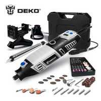DEKO GJ201 220 V 170 w LCD velocidad Variable herramienta rotativa Dremel estilo eléctrico Mini taladro w/eje Flexible Y 3 sets para elegir