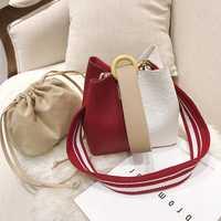 Sacs à bandoulière pour femmes 2019 nouveau Style coréen contraste couleur sac à main étudiant sac à bandoulière PU cuir Messenger sacs pour filles