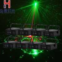 8 lote AC90 220 V 2 en 1 mini LED luz de la etapa roja y verde copo luz láser proyector Lazer etapa entretenimiento partido luz del disco