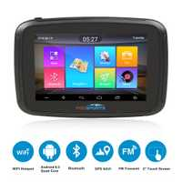 Fodsports ipx7 étanche moto rcycle navigation 5 pouces moto voiture GPS wifi 16G moto rbike navigateur android 6.0 FM 3000 mAh batterie