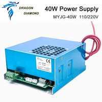 K40 serie: fuente de alimentación láser CO2 de 40 W para tubo láser CO2 de 110 V/220 V para corte de grabado láser de tubo máquina