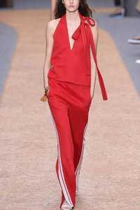 Verano Otoño Rojo Asombroso de Dos Piezas Establece Sexy Halter Con Cuello En V Pantalones Trajes Sistemas de la Ropa de Las Mujeres