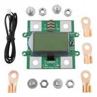 Digital LCD voltímetro amperímetro voltaje 300 V 100A capacidad de la batería del coche probador con sonda de temperatura Terminal Accesorios