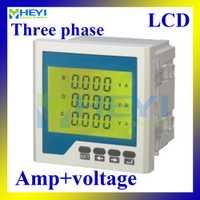 Digital Metro combinado CA amperímetro de tensión LCD HY-3UI serie de varios metros