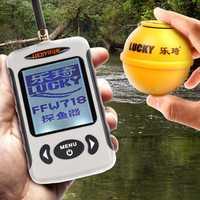 Waterpoof ruso inalámbrico buscador de peces 125KHz frecuencia contorno inferior 0,7-45 M Sensor buscador de peces accesorios de la Cámara de pesca