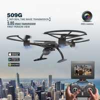 JXD 509G 5,8G FPV conjunto de alta Hold modo RC Quadcopter con 2.0MP HD Cámara 6 eje del helicóptero Drone monitor RTF Rc juguete regalo