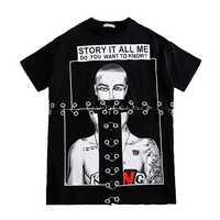 Suelto camiseta negro de las mujeres de dibujos animados de Ulzzang Harajuku Punk de T camisa Streetwear Hip Hop mujeres camiseta 50H0274