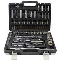 Petpig 82 piezas la combinación trinquete llave de Torque 1/2 de reparación de automóviles, herramientas de mano para coche Kit de un conjunto de llaves