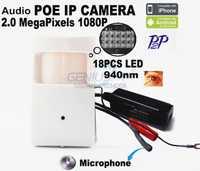 1080 P Poe Mini cámara IP Hd noche cámara de visión 940Nm Led Pir Detector de movimiento de cámara Pir estilo encubierta PIR cámara IP vmeyesuper de