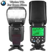 TRIOPO TR-586EX modo de Flash inalámbrico TTL Speedlite Flash para Nikon D750 D800 D600 D700 D610 D7100 D7000 para Canon cámara