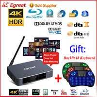 Egreat A5 4K lecteur multimédia UHD avec lecteur de disque dur Blu-ray HDR Menu de Navigation de lecture ISO Android 5.1 TV Box Spt DOLBY BD-ISO