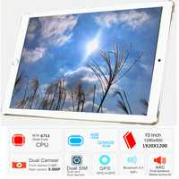 Envío Gratis 2019 Original 10,1 '3G/4G teléfono WIFI tablet PC 8 Octa Core RAM 4 GB ROM 32 GB MT6753 1920*1200 IPS de tablillas de metal piezas
